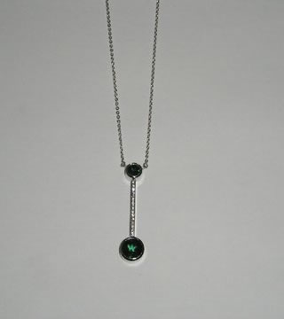 WSTNR20118: Tourmaline, Diamond, White Gold 750